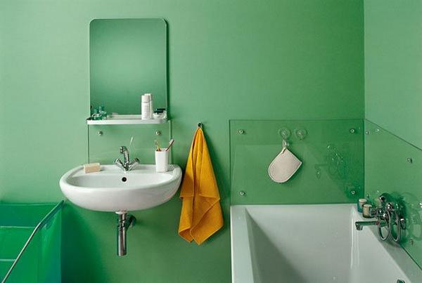 Стены в ванной своими руками фото
